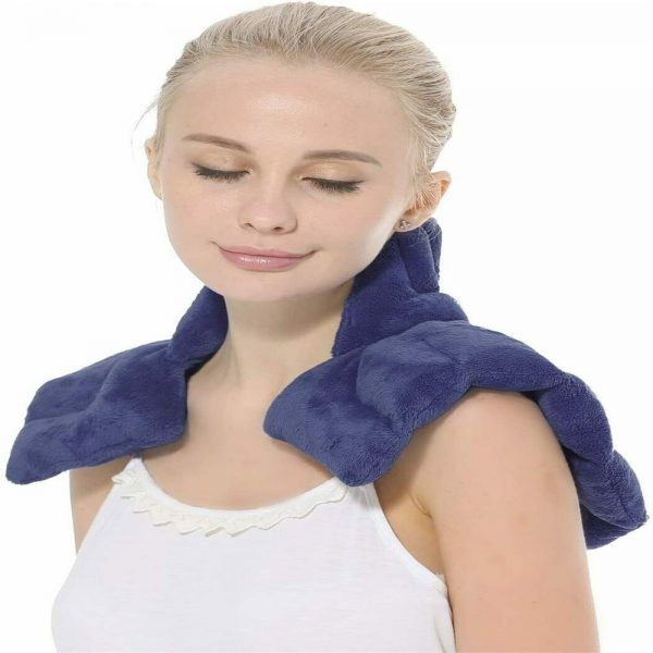 Aroma Season Microwaveable Neck And Shoulder Heating Pad Herbal Body Wrap Blue (1)