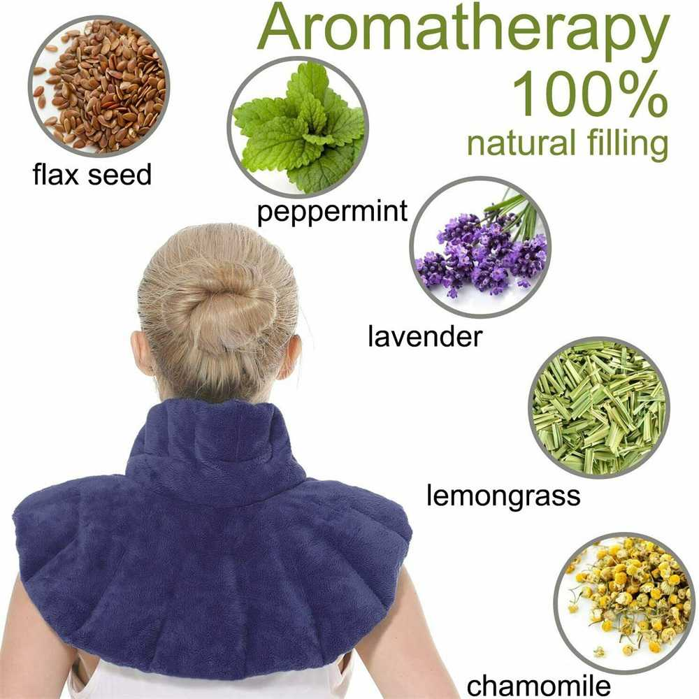 Aroma Season Microwaveable Neck And Shoulder Heating Pad Herbal Body Wrap Blue (6)