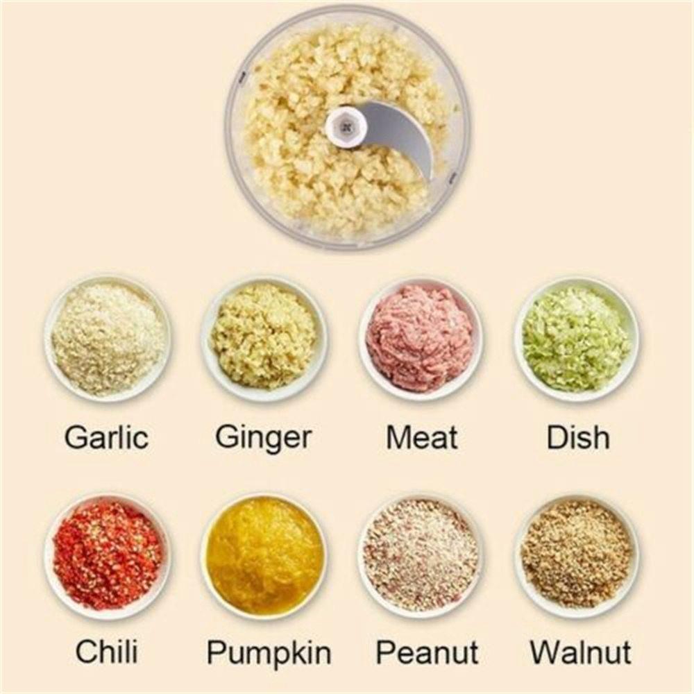 Electric Mini Garlic Masher Chili Vegetable Meat Grinder Mincer Blender Mixer (4)