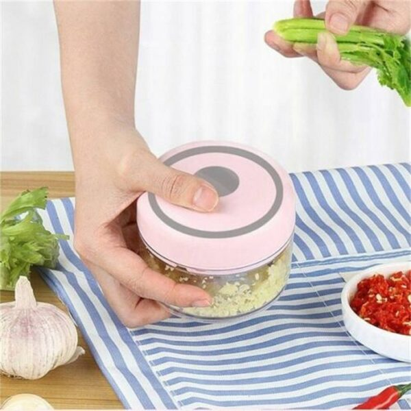Electric Mini Garlic Masher Chili Vegetable Meat Grinder Mincer Blender Mixer (6)
