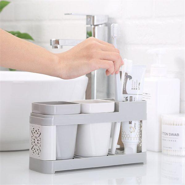 Electric Toothbrush Holder Bathroom Stand Caddy Storage Organiser Rack Pot Tidy (10)