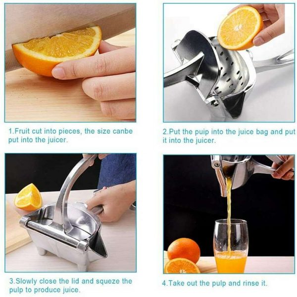 Manual Fruit Juicer Squeezer Tool Hand Press Fresh Orange Juice Lemon Grinders (9)