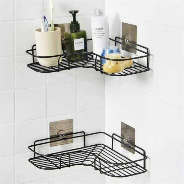 Shower Caddy Shelf Bathroom Corner Bath Storage Holder Organizer Triangular Rack (10)