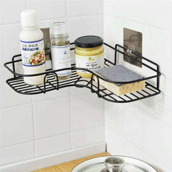 Shower Caddy Shelf Bathroom Corner Bath Storage Holder Organizer Triangular Rack (11)