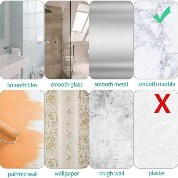 Shower Caddy Shelf Bathroom Corner Bath Storage Holder Organizer Triangular Rack (5)