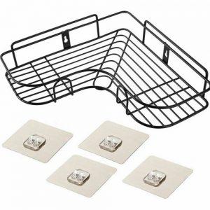 Shower Caddy Shelf Bathroom Corner Bath Storage Holder Organizer Triangular Rack (6)