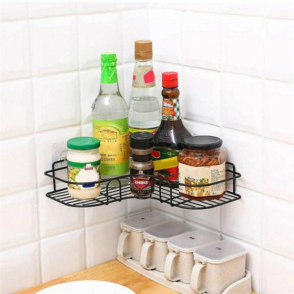 Shower Caddy Shelf Bathroom Corner Bath Storage Holder Organizer Triangular Rack (8)