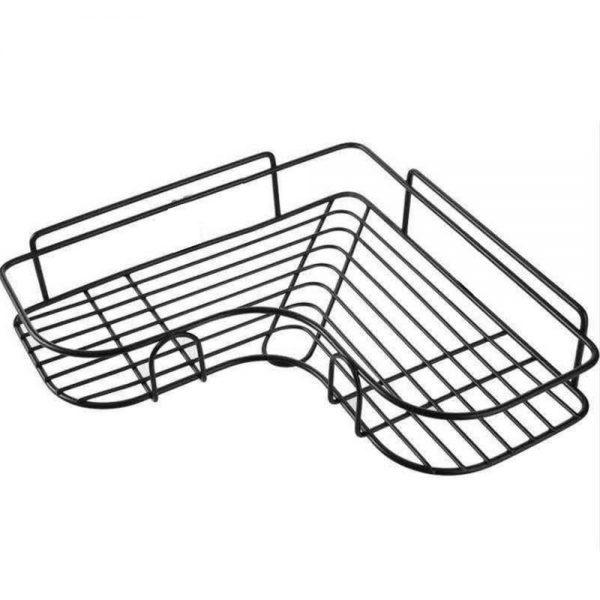 Shower Caddy Shelf Bathroom Corner Bath Storage Holder Organizer Triangular Rack (9)