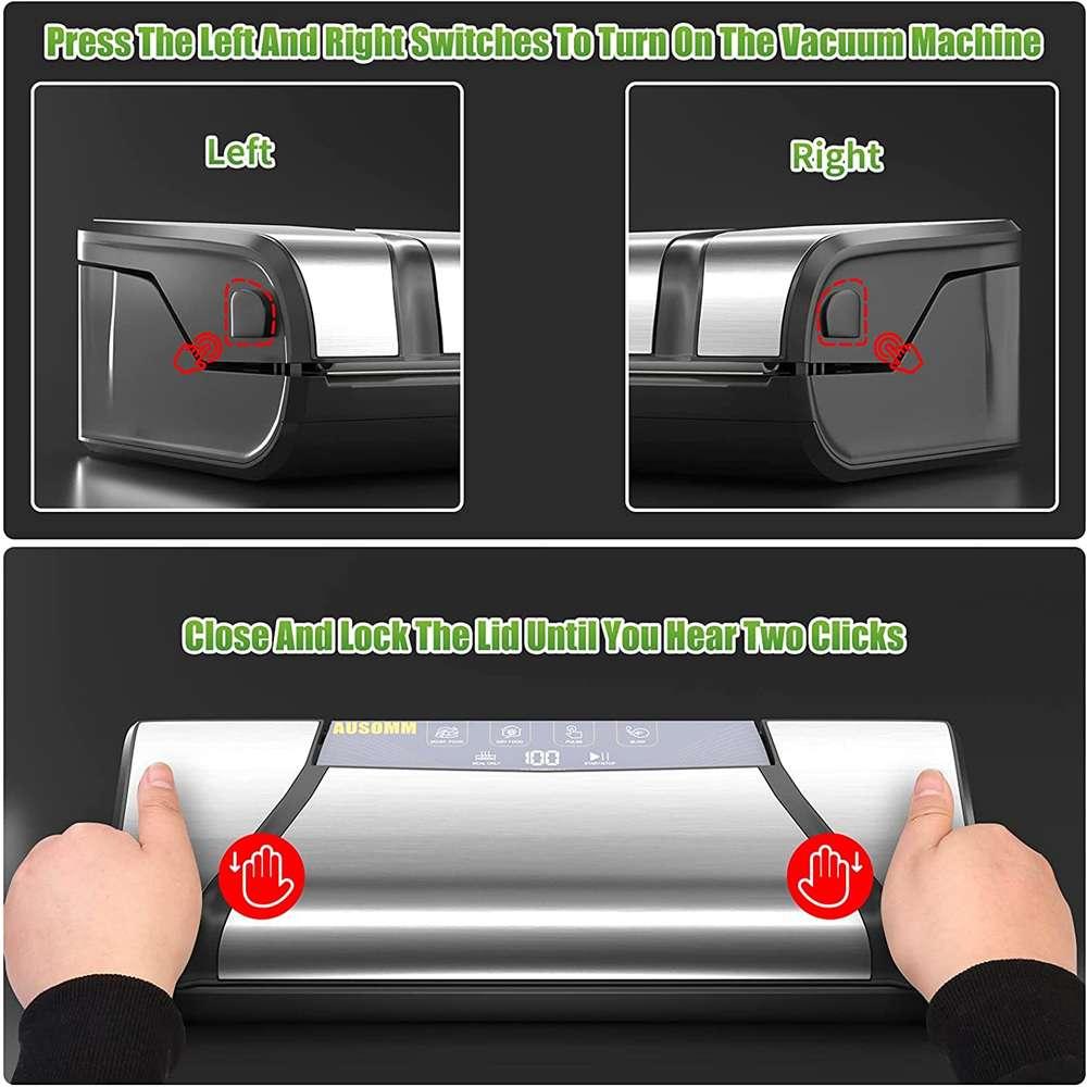 Vacuum Sealer For Food, 75kpa Automatic Food Saver Vacuum Sealer Machine (3)