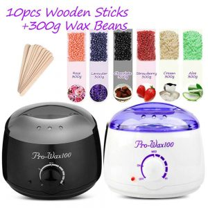Waxing Kit Wax Heater Warmer Pot Machine Wax Beans Stick Set Strips Hair Removal (12)