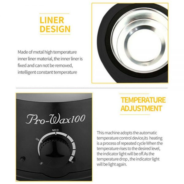 Waxing Kit Wax Heater Warmer Pot Machine Wax Beans Stick Set Strips Hair Removal (3)