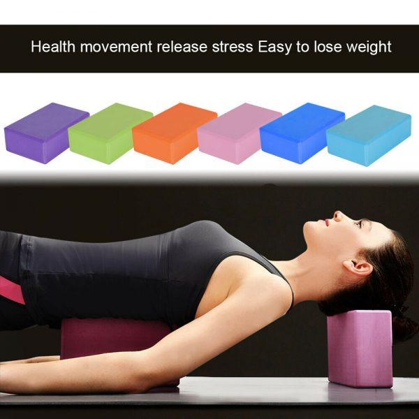 2 X Yoga Block Pilates Stretching Foam Brick Yoga Exercise Aids Uk (10)