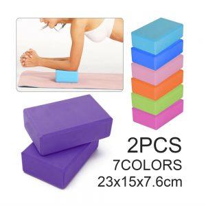 2 X Yoga Block Pilates Stretching Foam Brick Yoga Exercise Aids Uk (12)