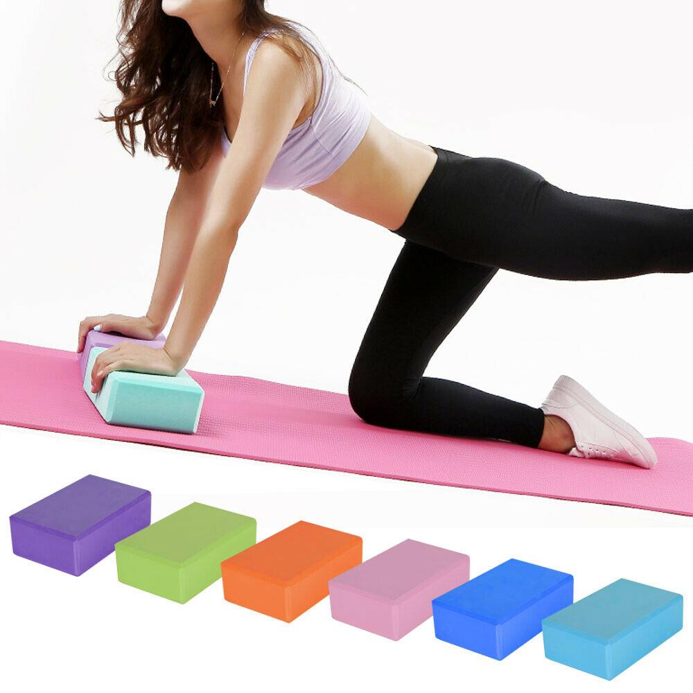 2 X Yoga Block Pilates Stretching Foam Brick Yoga Exercise Aids Uk (13)