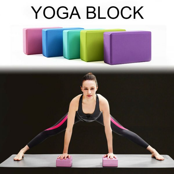 2 X Yoga Block Pilates Stretching Foam Brick Yoga Exercise Aids Uk (14)