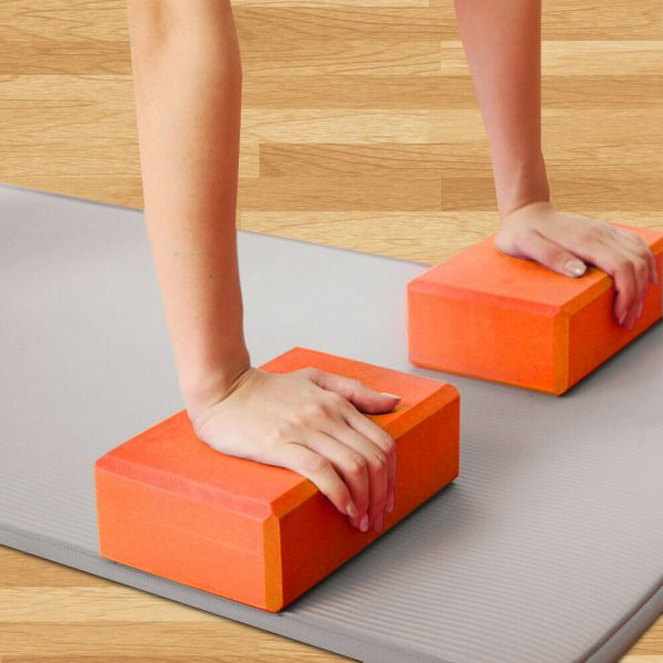 2 X Yoga Block Pilates Stretching Foam Brick Yoga Exercise Aids Uk (16)