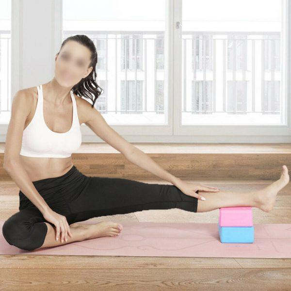 2 X Yoga Block Pilates Stretching Foam Brick Yoga Exercise Aids Uk (17)