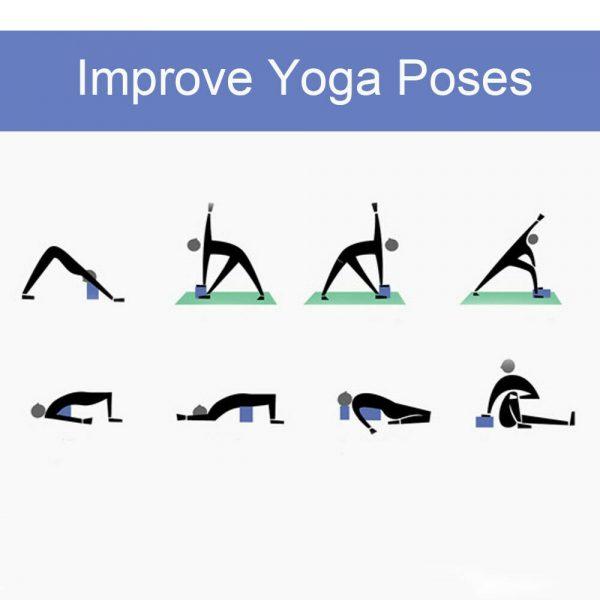 2 X Yoga Block Pilates Stretching Foam Brick Yoga Exercise Aids Uk (18)