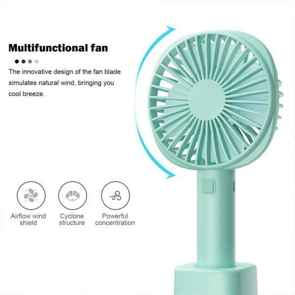 2500mah Portable Cute Electric Fan Usb Charging Hand Held Electric Fan (5)