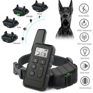 500m Waterproof Pet Dog Training Lcd Display Rechargeable Pet Dog Training Collar (1)