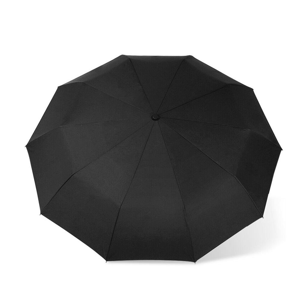 Automatic 10 Bone Strong Folding Umbrella High End Business Umbrella Unisex (8)