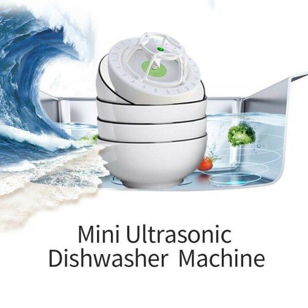 Automatic Mini Usb Dishwasher Ultrasonic Sink Installation Free Brush Dishwasher (3)