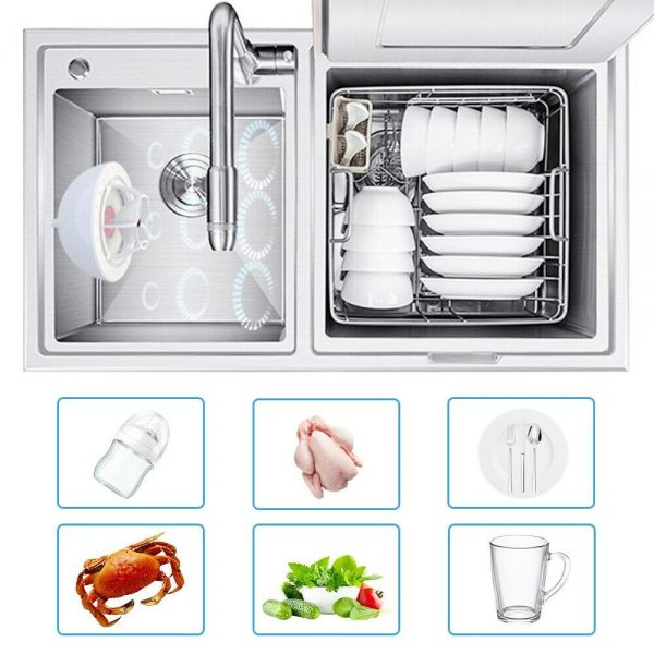 Automatic Mini Usb Dishwasher Ultrasonic Sink Installation Free Brush Dishwasher (4)
