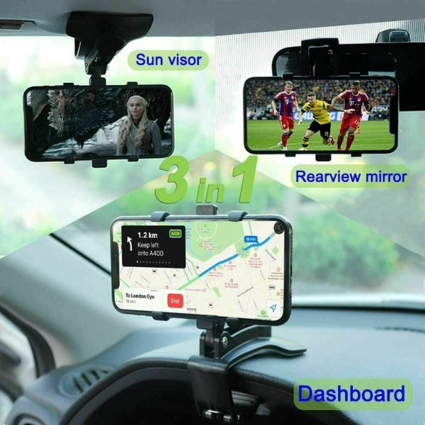 Car Dashboard Mobile Phone Bracket Universal Center Console Support Frame (10)