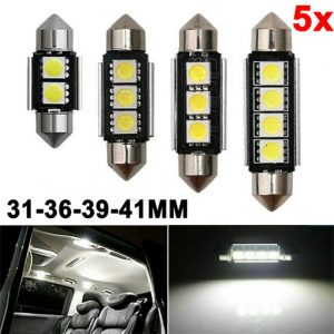 Car Led Reading Lamp License Plate Lamp Small Lamp 41mm Decoding Double Tip Lamp (7)