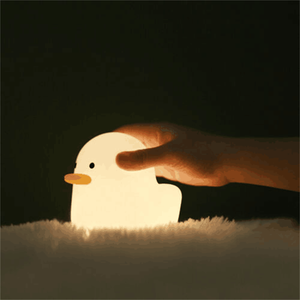 Creative Led Duck Night Light Cute Pet Silicone Children Bedside Sleeping Gift (1)