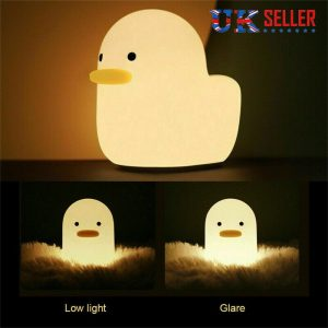 Creative Led Duck Night Light Cute Pet Silicone Children Bedside Sleeping Gift (10)