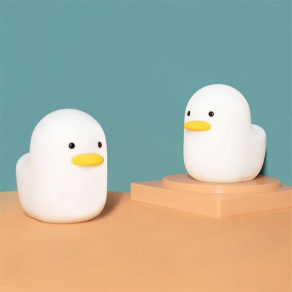 Creative Led Duck Night Light Cute Pet Silicone Children Bedside Sleeping Gift (12)