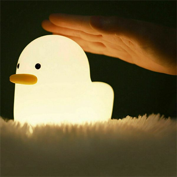 Creative Led Duck Night Light Cute Pet Silicone Children Bedside Sleeping Gift (6)