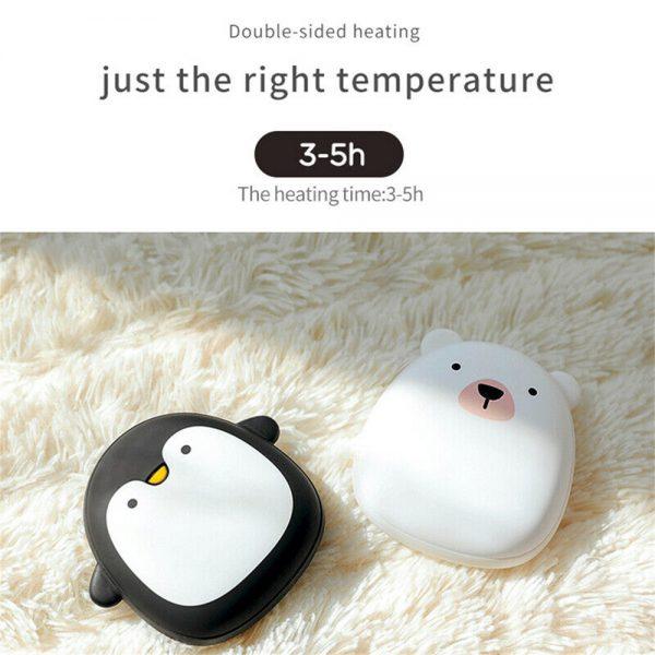 Cute Penguin Polar Bear Hand Warmer Usb Charging Mini Hand Warmers New (10)
