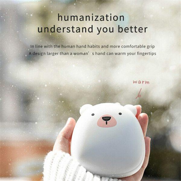 Cute Penguin Polar Bear Hand Warmer Usb Charging Mini Hand Warmers New (2)