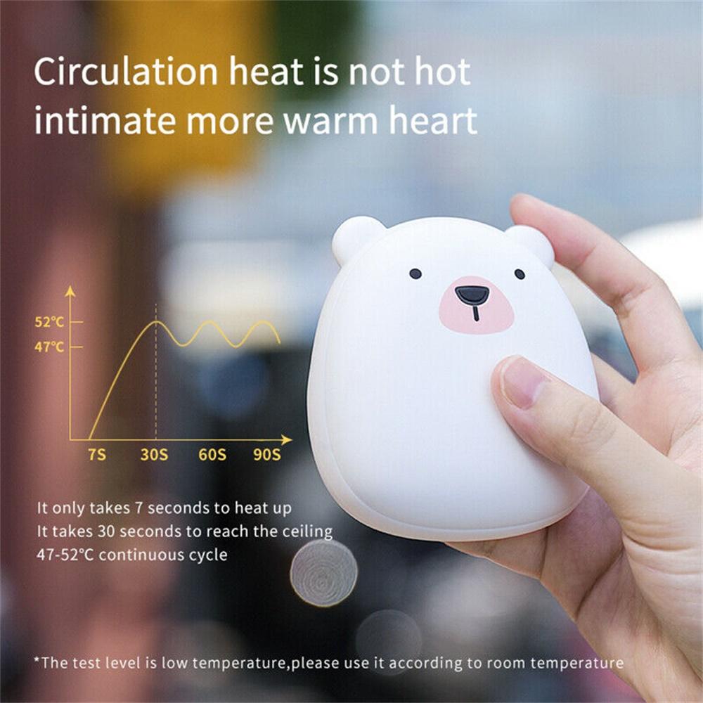 Cute Penguin Polar Bear Hand Warmer Usb Charging Mini Hand Warmers New (4)