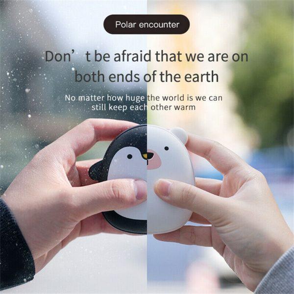 Cute Penguin Polar Bear Hand Warmer Usb Charging Mini Hand Warmers New (5)