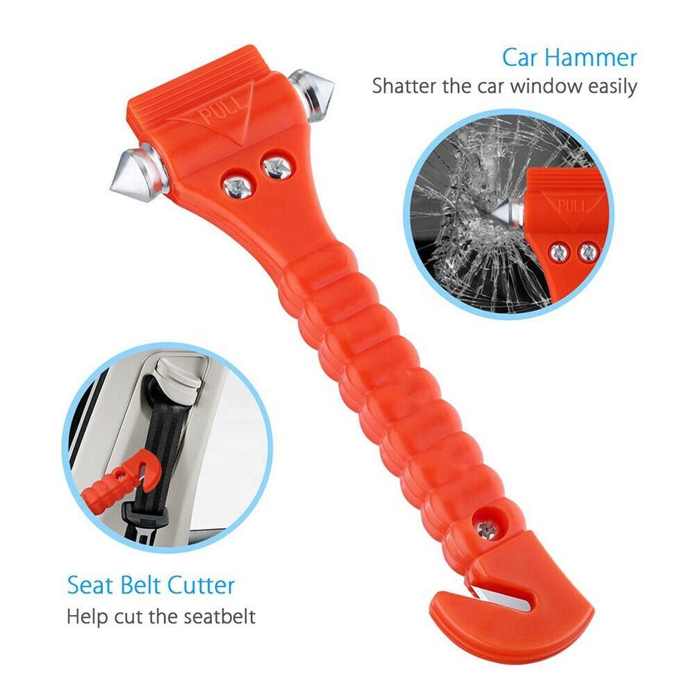 Fire Escape Hammer Car Window Breaker Window Breaker Seat Belt Cutter Tool (2)