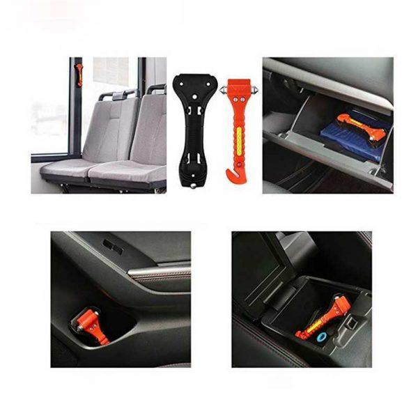 Fire Escape Hammer Car Window Breaker Window Breaker Seat Belt Cutter Tool (5)
