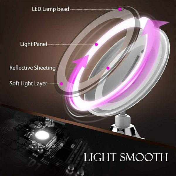 Led Mini Suction Cup Makeup Mirror Portable Free Punch Bathroom (10)