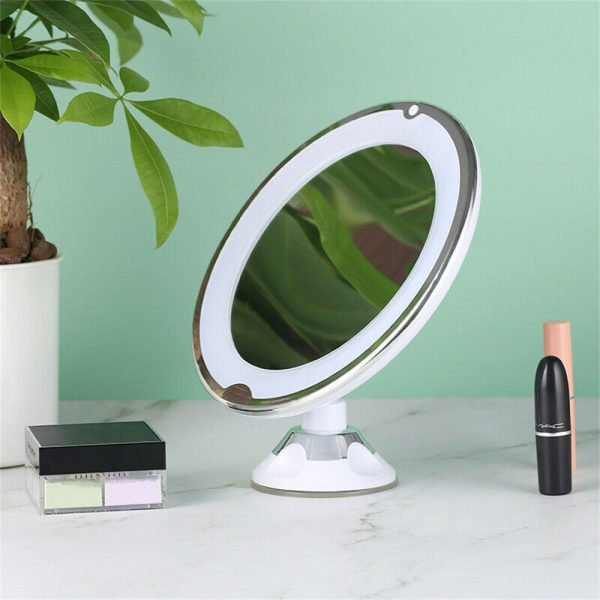 Led Mini Suction Cup Makeup Mirror Portable Free Punch Bathroom (11)