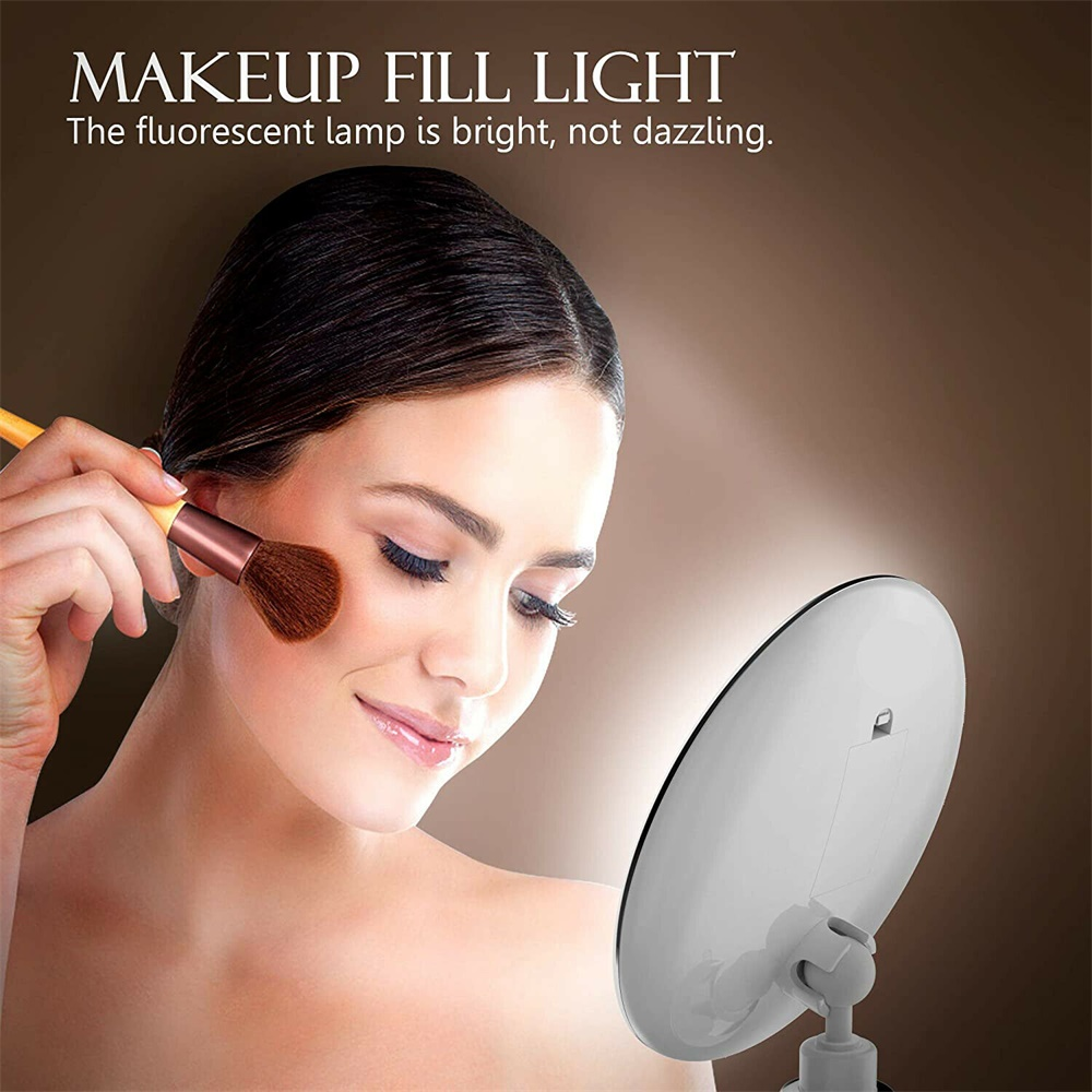 Led Mini Suction Cup Makeup Mirror Portable Free Punch Bathroom (4)