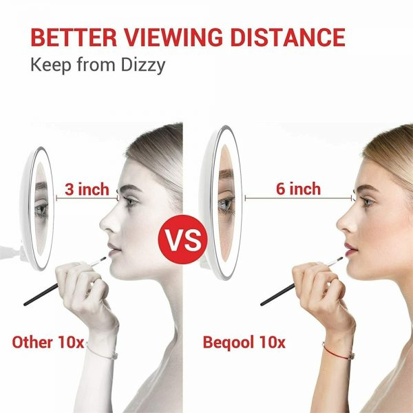 Led Mini Suction Cup Makeup Mirror Portable Free Punch Bathroom (5)