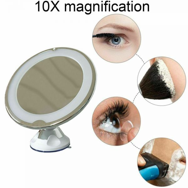 Led Mini Suction Cup Makeup Mirror Portable Free Punch Bathroom (8)