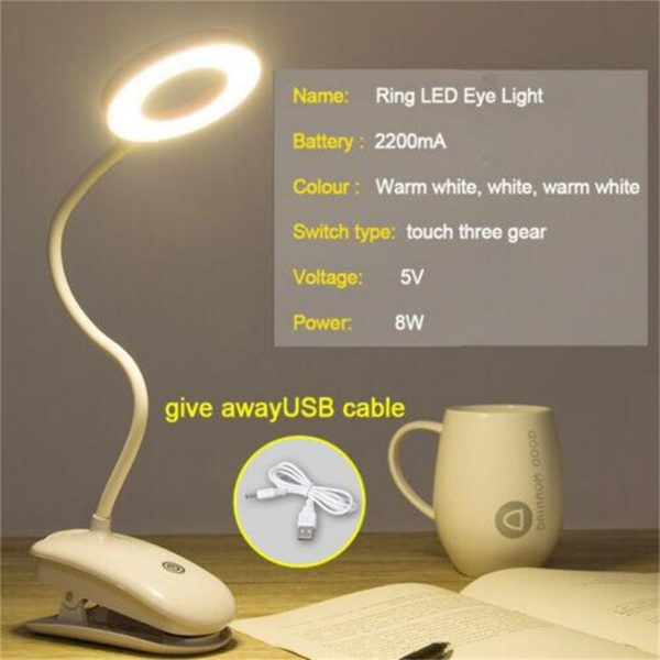 Led Usb Creative Clip Folding Table Lamp Table Study Light Learning Eye (10)
