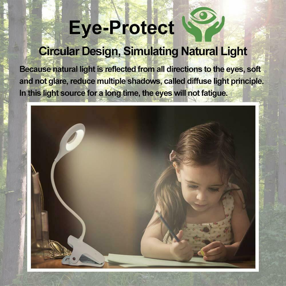 Led Usb Creative Clip Folding Table Lamp Table Study Light Learning Eye (4)