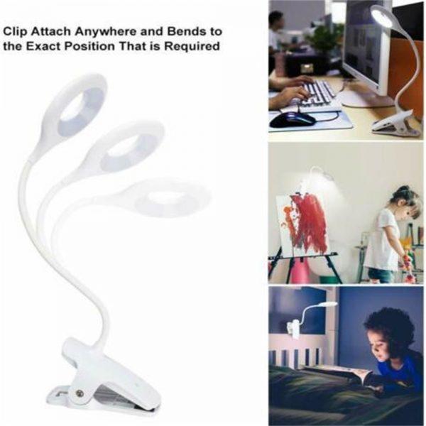 Led Usb Creative Clip Folding Table Lamp Table Study Light Learning Eye (5)