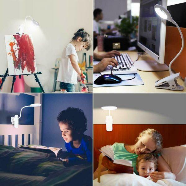 Led Usb Creative Clip Folding Table Lamp Table Study Light Learning Eye (7)