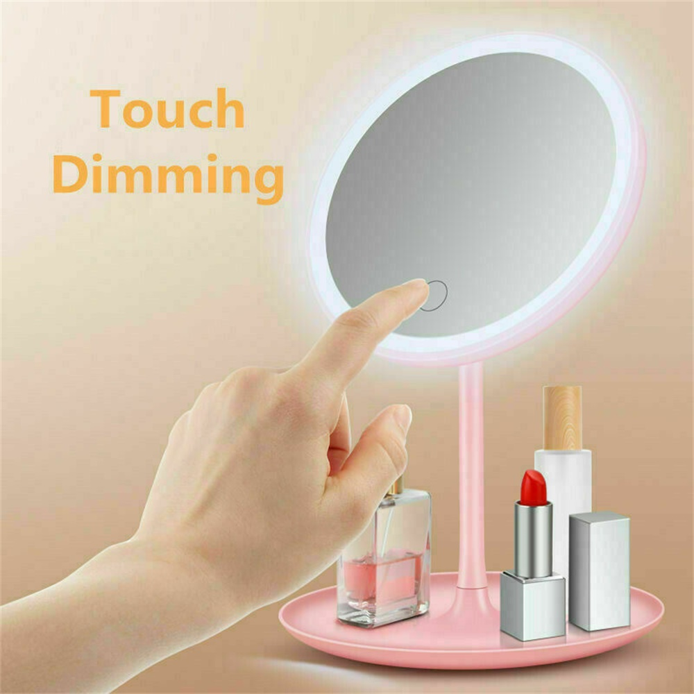 Makeup Mirror Led Desktop With Lamp Portable Usb Charging Three Color Light Dressing Mirror (11)