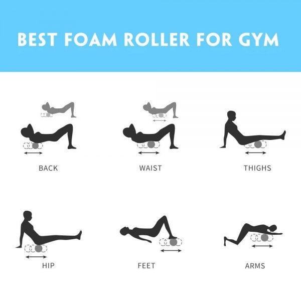 Massage Yoga Grid Foam New Hollow Foam Roller Mesh For Pilates Physical Exercise (10)